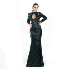 Color : Green Material : Polyester , Synthetic , Leather Style : Prairie Chic Pattern Type : Solid Neckline : Turtleneck The post Sexy High Neck Hollow Out Maxi Dresses appeared first on Power Day Sale. Sequin Prom Dresses, Sequin Party Dress, Prom Party Dresses, Occasion Dresses, Evening Dresses, Maxi Dresses, Maxi Skirts, Maxi Outfits, Chic Outfits