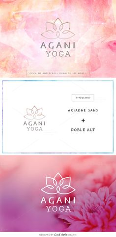Posted by @newkoko2020 Agani Yoga Premade Logo by Coral Antler Creative on @creativemarket