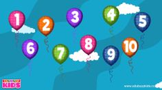 Numbers Song 2 - Learn to Count Numbers 1 to 10 - Numbers Balloon Song