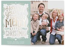 Merry Typography. ADORABLE Christmas card from minted.com!