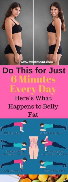 Workout Exercise Do This for Just 6 Minutes Every Day,Here's What Happens to Belly Fat The belly fat is that the hardest kind of fats to lose, and is additionally one among st the foremost dangerous ones. Fitness Workouts, Sport Fitness, Body Fitness, Fitness Diet, At Home Workouts, Fitness Motivation, Health Fitness, Sport Motivation, Ab Workouts