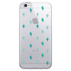 iPhone 6/6S Clear Case - Mini Cacti - Mint Green, Green/Green