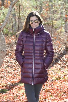 """I was on the hunt for a new winter jacket and fell in love with the burgundy color of this."" - @nicoleperr"