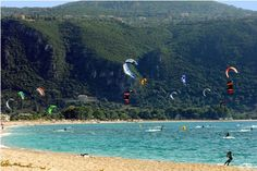 Surfing holidays is a surfing vlog with instructional surf videos, fails and big waves Surfing Uk, Secluded Beach, Greece Islands, Windsurfing, Big Waves, Visit Greece, Horseback Riding, Rafting, Kayaking