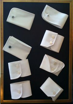 idée pour des ronds de serviettes, récup de manches