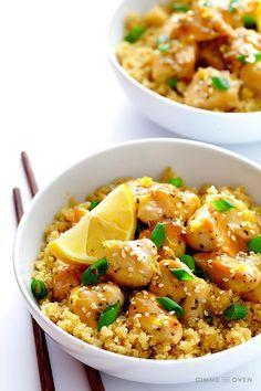 3 super leckere Gerichte mit viel Geschmack und wenig Kalorien - Zitronen-Honig-Hühnchen