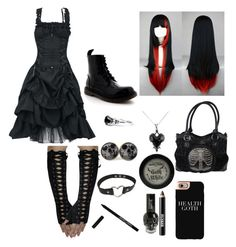 """Goth"" by lilly-fly on Polyvore featuring Ardency Inn, Manic Panic NYC, Casetify and memento"