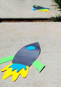 Rocket Ship Cutouts - Good shape for door decoration