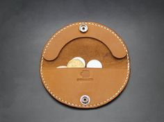 round coin purse round mini Walletcoin Wallet coin by 3cobblers