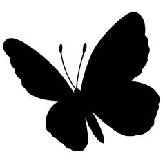 Silhouette Painting, Silhouette Clip Art, Silhouette Images, Animal Silhouette, Butterfly Drawing, Butterfly Stencil, Simple Butterfly, Henna Tattoo Designs, Monochrom