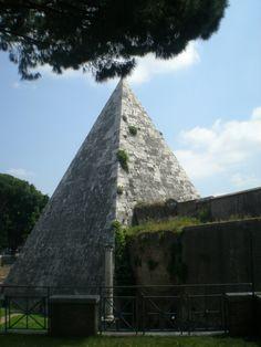 The Pyramid Tomb of Gaius Cestius http://inpursuitofadventureblog.wordpress.com/2013/06/11/a-glimpse-of-the-protestant-cemetery-in-rome/