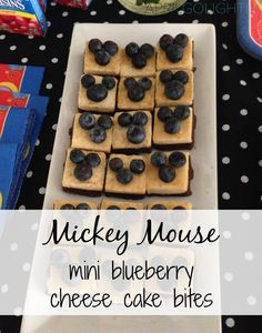 Mickey Mouse Mini Blueberry Cheese Cake Bites for the Disney Side Celebrations #disneyside party
