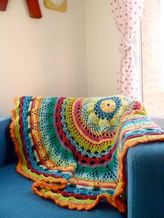 Circle Blanket - I one, don't crochet, whos going to make me one, its my 60th birthday in August yall would have time.  lol