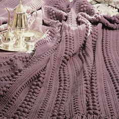 Ravelry: Luxurious Wraps: Cluster Afghan pattern by Leisure Arts