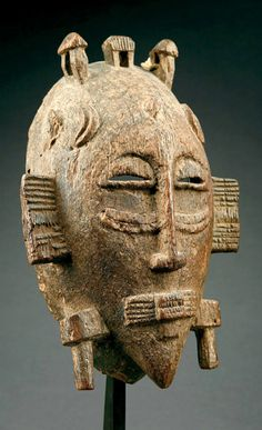 Africa | Kpélié mask from the Senufo people of the Ivory Coast | Wood