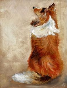 Waiting for treats - Original Fine Art for Sale - © by Karen Robinson - Tap the pin for the most adorable pawtastic fur baby apparel! You'll love the dog clothes and cat clothes! <3