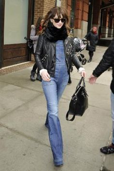 The ultimate guide to wearing overalls: as told by Dakota Johnson