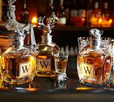 for the man cave / Pottery Barn Wildlife decanters, $119