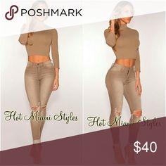 Sand Ripped Knee Skinny Jeans Sold out on Hot Miami Styles. Hot Miami Styles Jeans Skinny
