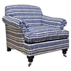 Accent Chairs | One Kings Lane ---- THE STYLE OF THE CHAIR, not the fabric