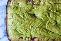 Matcha Green Tea and Red Bean Cake