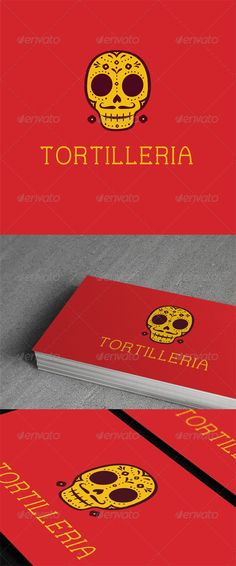 """Tortilerria Logo  #GraphicRiver         """"Tortilleria Logo Template"""" suitable for Mexican or any ethnic business or related to restaurant/cafe business. 100% Vector, CMYK, AI & EPS, Easy to edit color / text. Free font used :  .behance /gallery/Lorena-aFree-Font/2576379"""