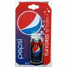 Pepsi Wild Cherry Flavored Lip Balm to soften your lips..