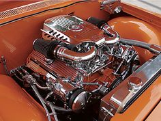 1962 Pontiac Bonneville Under Hood
