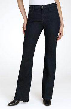 Jeans. It's worth paying extra for jeans that fit and flatter. Your best bet? A dark, bootcut pair made from stretch denim with no more than 2 percent Lycra. (The fabric will follow your curves while keeping its shape.) | NYDJ 'Basic' Bootcut Stretch Jeans (Regular & Petite) | Nordstrom | $104 | Wardrobe basics