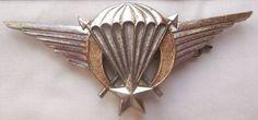 Parachutist Airborne Wings Africa Upper Volta metal brevet.