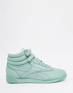 bbd71c1ca2e Image 2 of Reebok Freestyle Hi Spirit Mint Green Sneakers Green Trainers