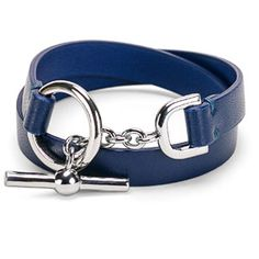 Dámský kožený náramek Oliva - modrý