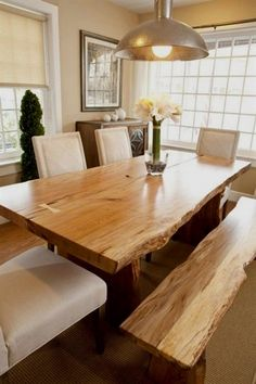 Made from solid wood and iron, your Live Edge Wood Dining Table is hand-sanded, finished and sealed with a durable finish to preserve its raw edge and rustic wood grain. Thanks to natural variations and the handcrafting process, each tables beautifully-finished wood is #HomeFurniture