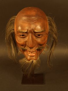 Masque en laque, Japon, époque Meiji.