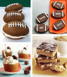 Football theme snacks to compliment your at-home tailgating parties.