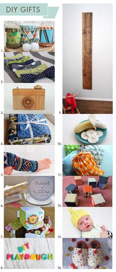 14 Easy DIY Gifts for babies and | http://doityourself-gift-ideas.blogspot.com