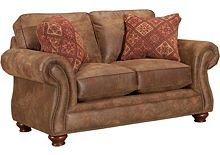 Loveseat from Laramie at BroyhillFurniture.com - really like this collection for leather furniture.