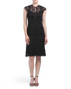 Made In USA Lace Keyhole Dress