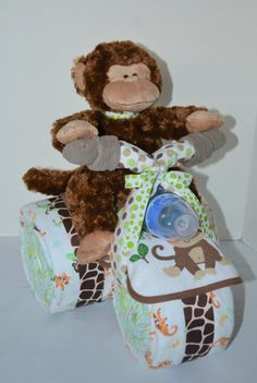 Motorcycle Diaper Cake Baby Shower Gift Baby by arizonababycakes More