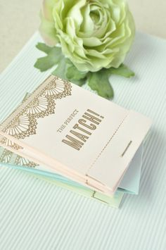 Letterpressed Save the Date Matchbooks & Magnet by Twig & Thistle #save the date #letterpress