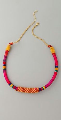 Threaded necklace