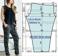 MOLDE DE CALÇA DE LINHO -27 | Moldes Moda por Medida | Bloglovin'