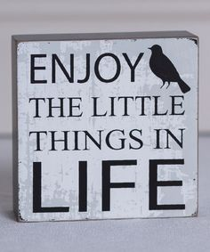 Love this 'Enjoy the Little' Box Sign by Adams & Co. on #zulily! #zulilyfinds
