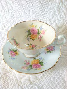 Vintage EB Foley Fine Bone China Tea Cup and by MariasFarmhouse