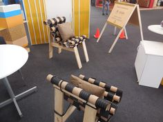 Pabellón Stands de Exhibición - Stand Cálida, detalle de sillas.
