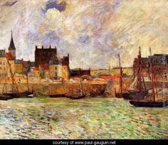 The Port  Dieppe - Paul Gauguin