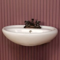 """Gretchen Wall Mount Sink - 4"""" Centerset Faucet Hole Drillings - White  - Signature Hardware $99.95"""