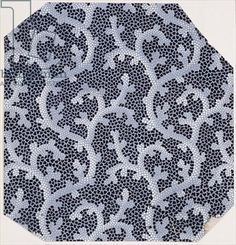 Textile design depicting stylised coral, French, 1898 (gouache on paper)
