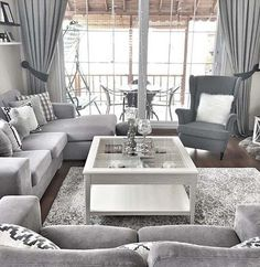 Beautiful grey living room