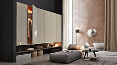 Buy Gliss-Up Wardrobes by Molteni&C from our designer Bedroom Furniture collection at Chaplins - Showcasing the very best in modern design. Home Interior Design, Interior Architecture, Bedroom Furniture, Furniture Design, Art Furniture, Bedroom Wardrobe, Master Bedroom, Wardrobe Sale, Corner Wardrobe